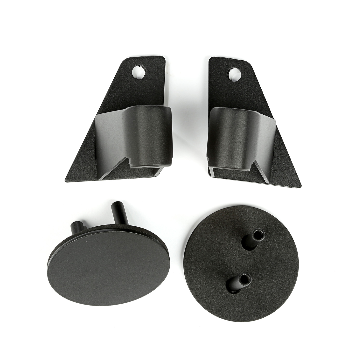 Rugged Ridge Mirror Relocation Brackets, Textured Black - JK