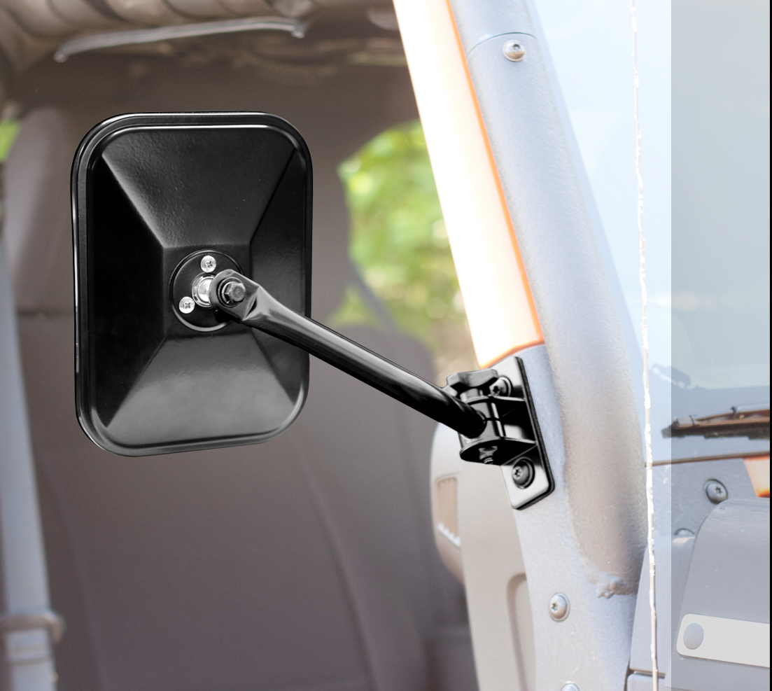 Rugged Ridge Quick Release Mirrors Black - JK/TJ