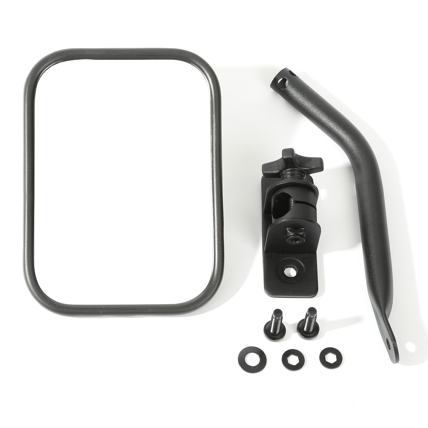Rugged Ridge Quick Release Mirror Textured Black  - JK/TJ/LJ