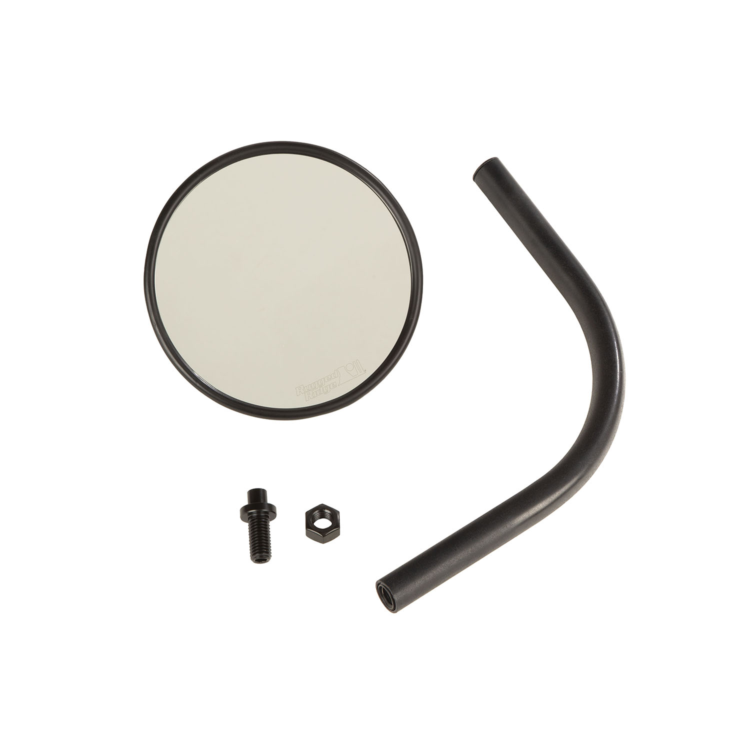 Rugged Ridge Round Trail Mirror, Single  - JT/JL