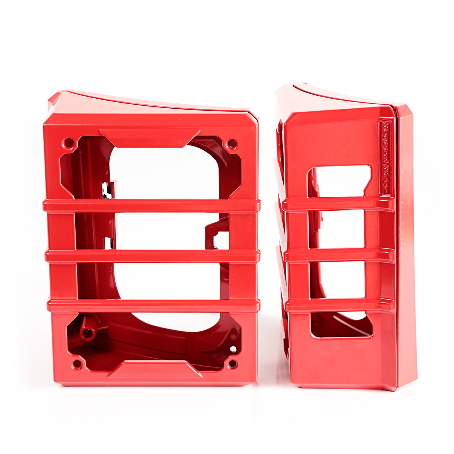Rugged Ridge Elite Tail Light Guards, Red - JK