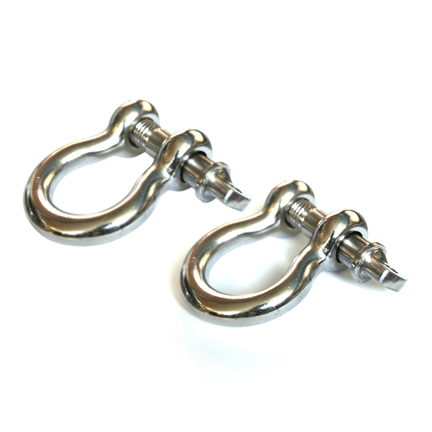 Rugged Ridge D-Shackles, Stainless Steel, 3/4-Inch, Pair