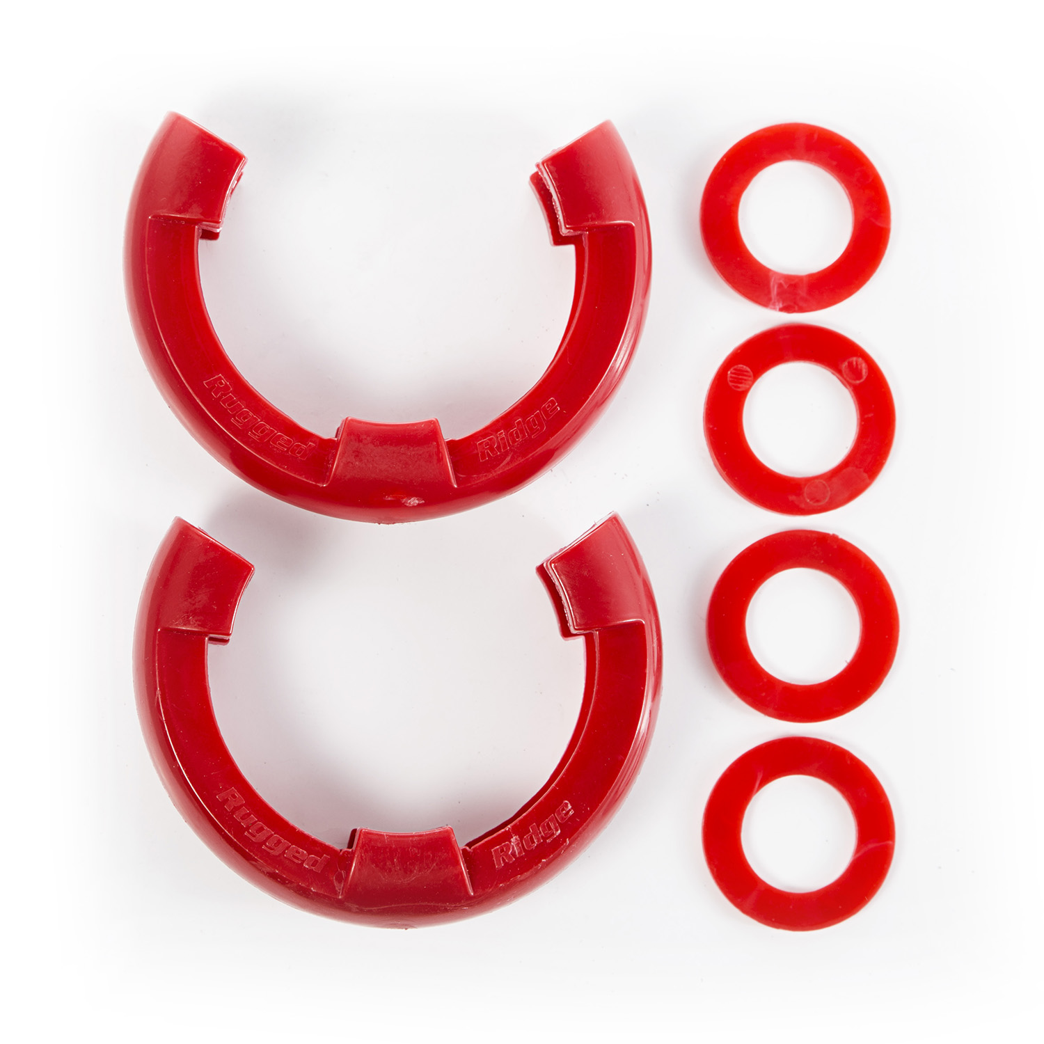 Rugged Ridge D-Shackle Isolator 3/4 Inch Kit, Red Pair