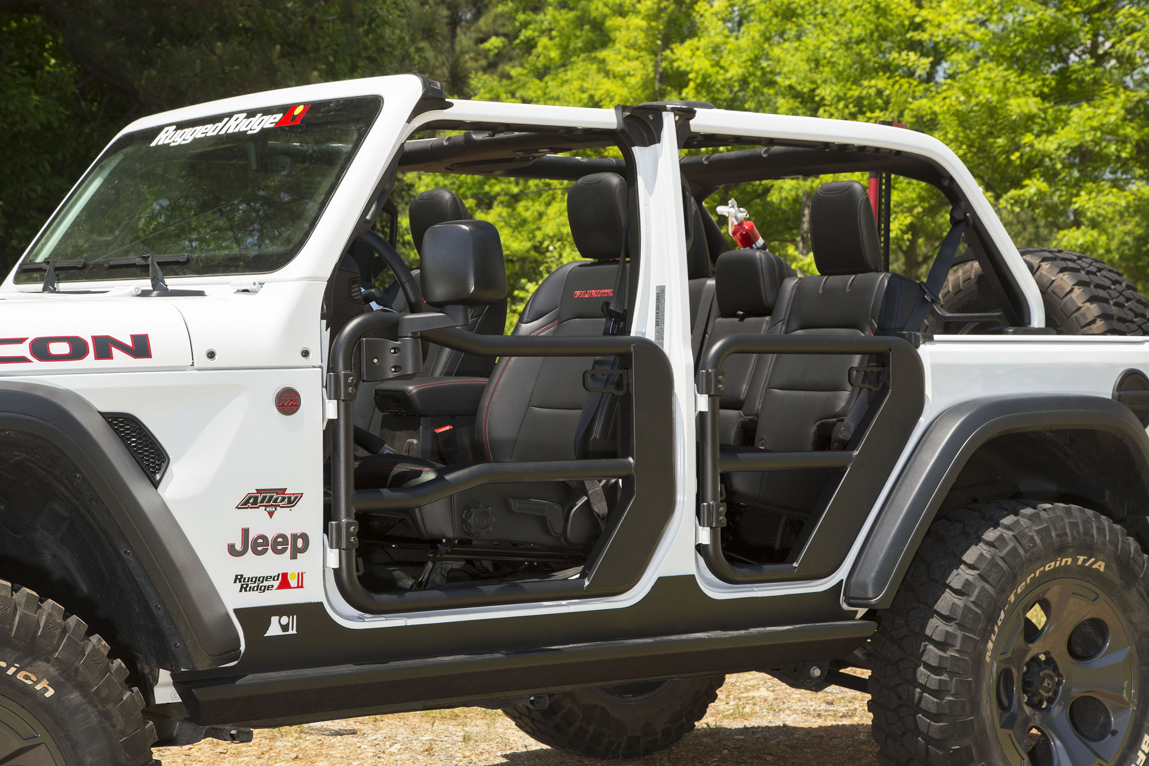 Rugged Ridge Front Tube Doors with Mirrors  - JT/JL