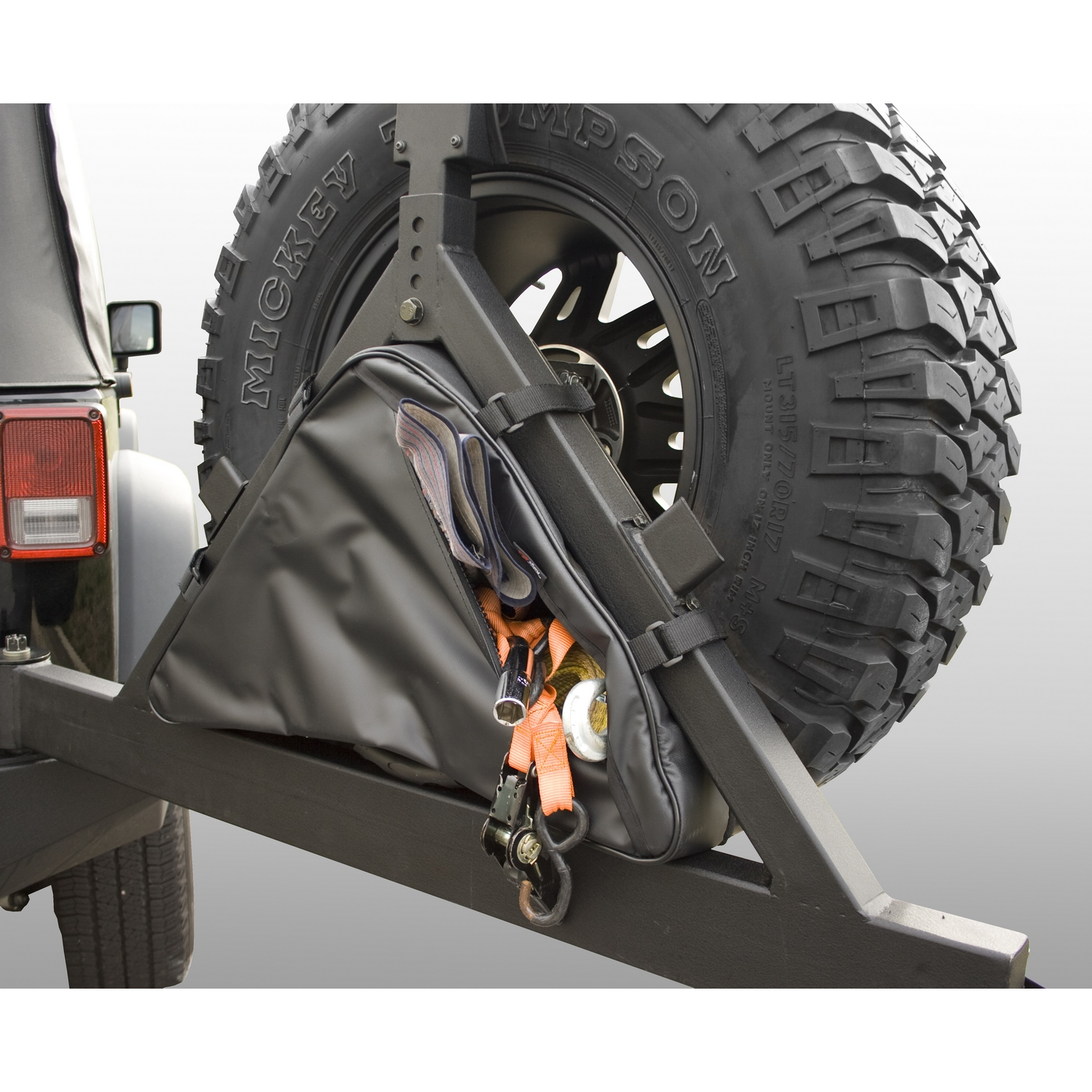 Rugged Ridge Triangular Storage Bag for Tire Carriers - TJ/YJ