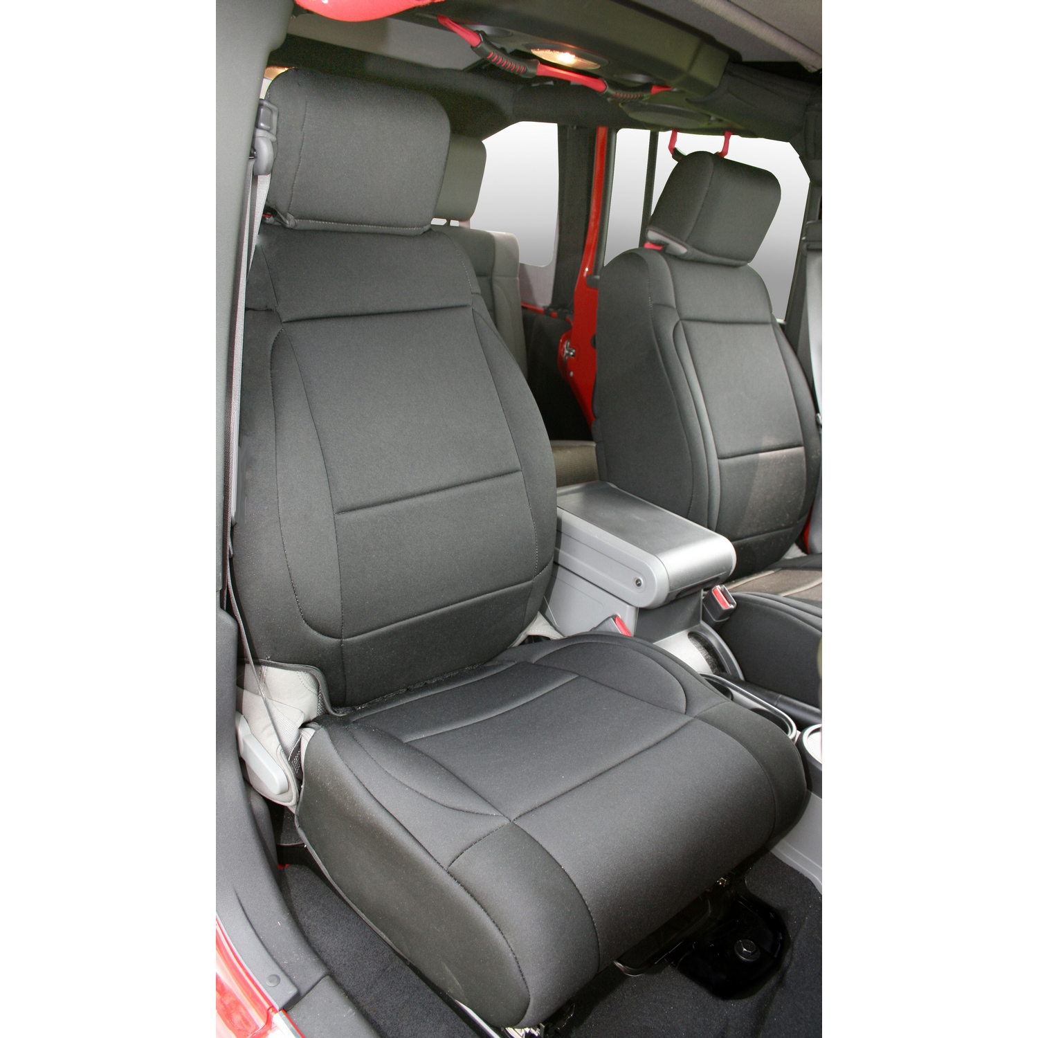 Rugged Ridge Front Seat Covers Black/Black - JK 2007-10