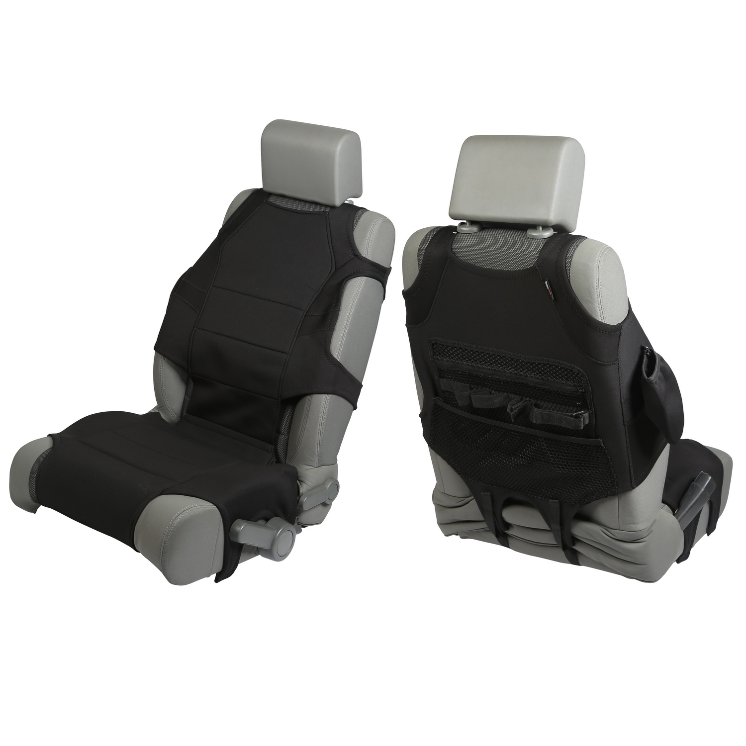 Rugged Ridge Front Seat Vests Black - JT/JL/JK