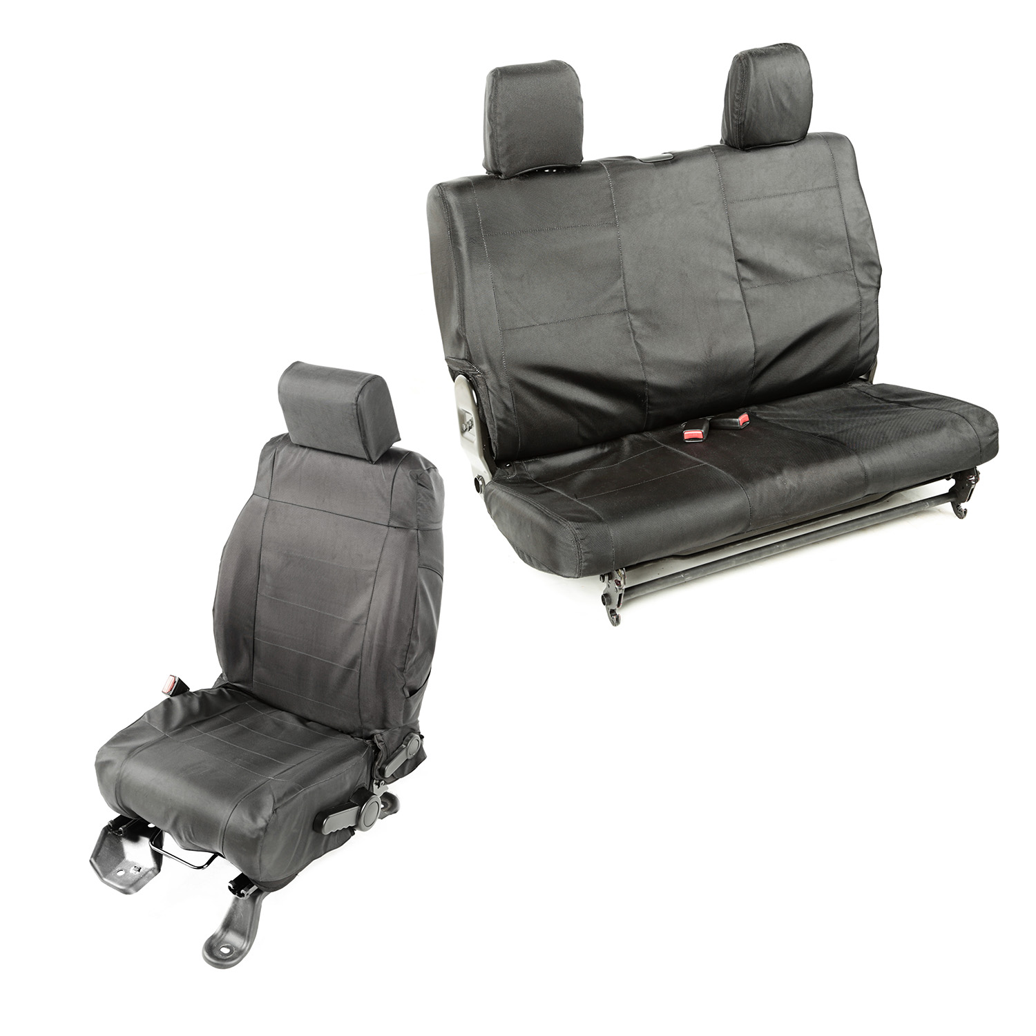 Rugged Ridge Ballistic Seat Cover Set Black - JK 2dr 2007-10