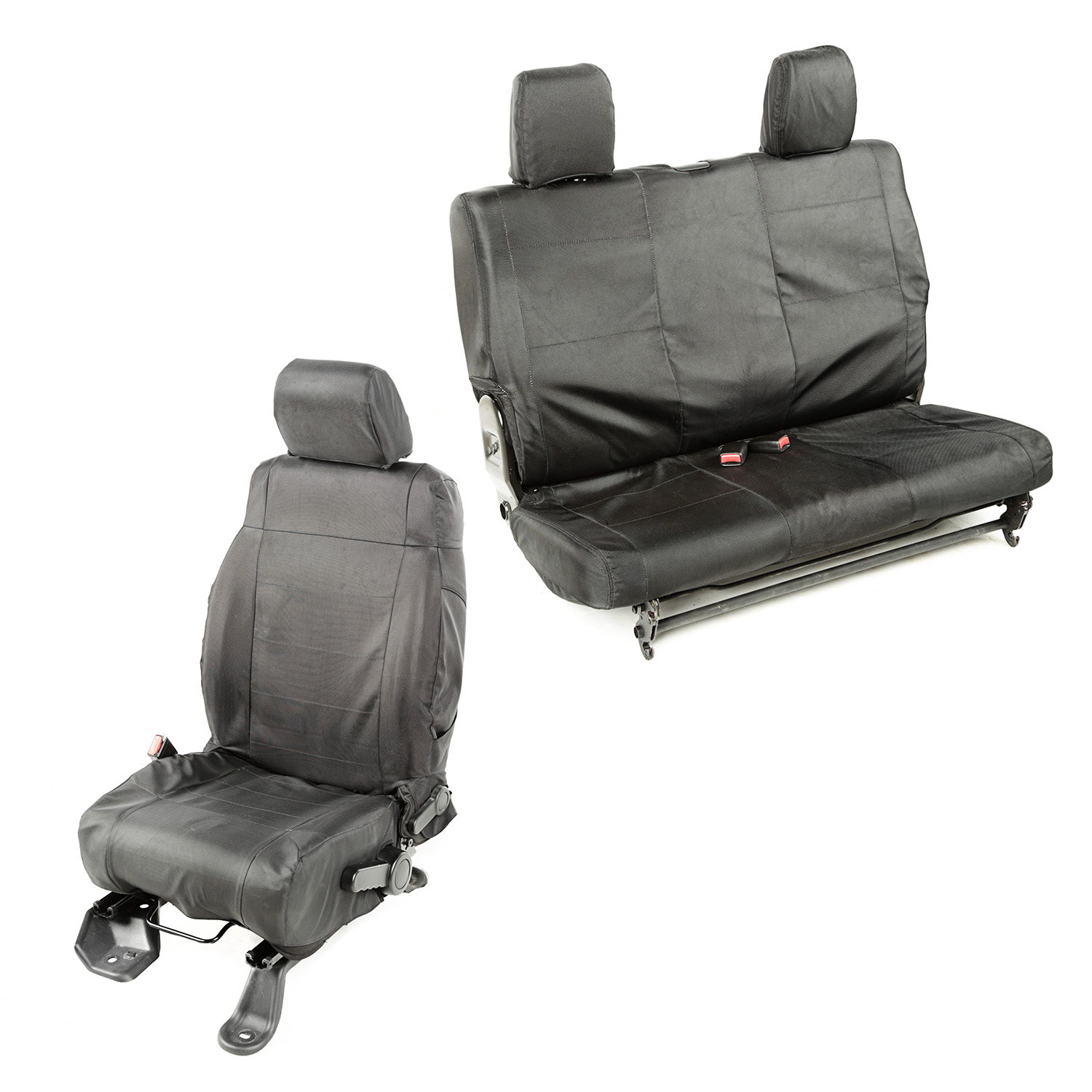 Rugged Ridge Ballistic Seat Cover Set Black - JK 2dr 2011+