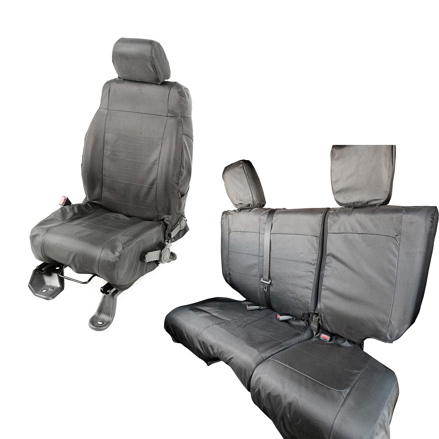 Rugged Ridge Ballistic Seat Cover Set Black - JK 4dr 2011+