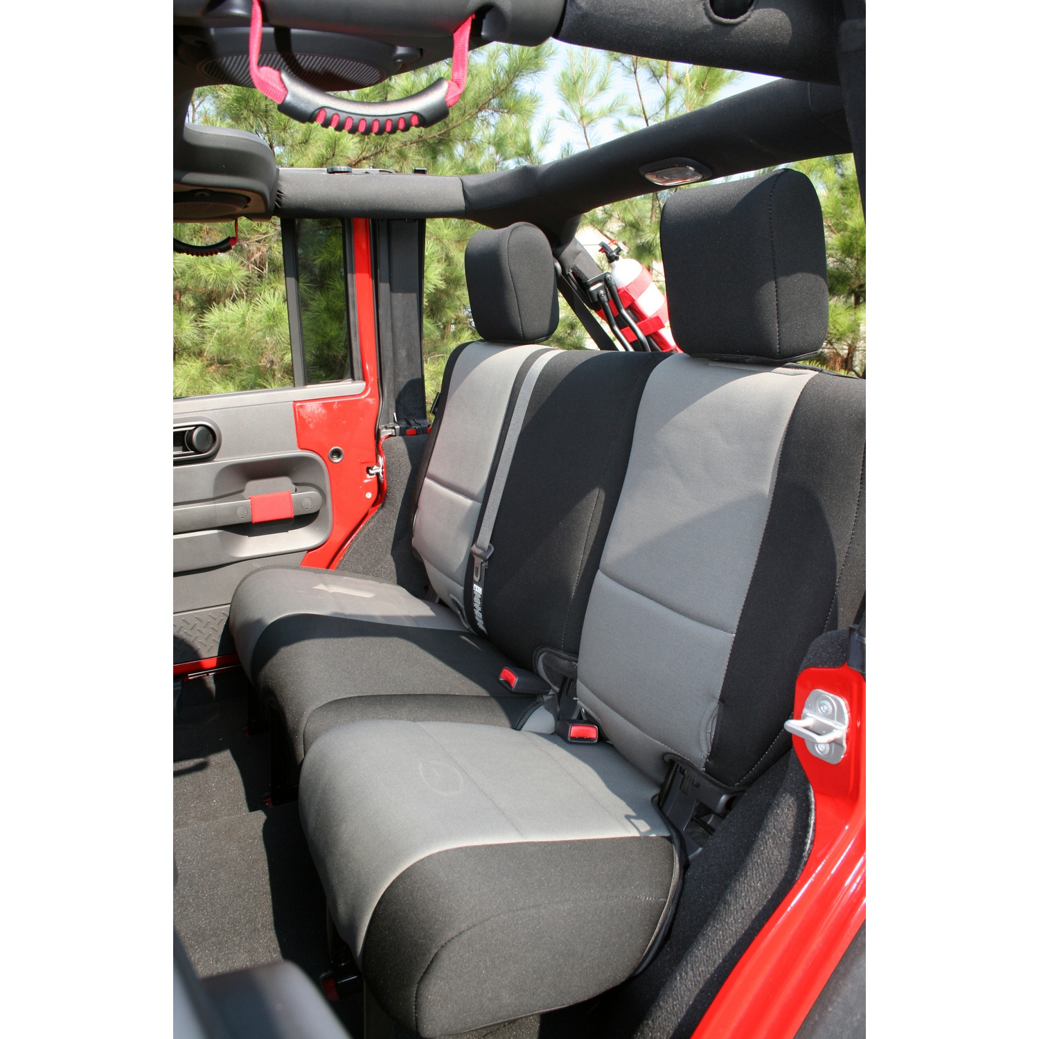 Rugged Ridge Rear Seat Cover Black/Grey - JK 4dr