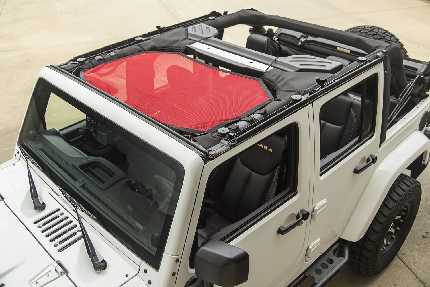 Rugged Ridge Eclipse Sun Shade, Front, Red - JK