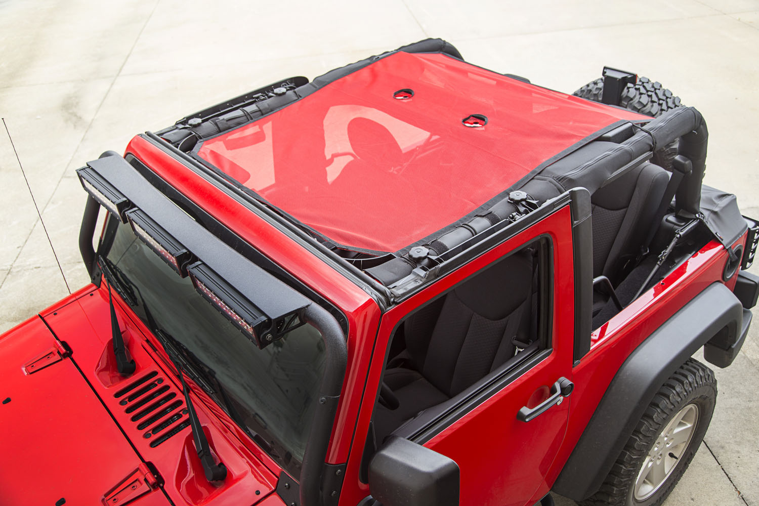 Rugged Ridge Eclipse Sun Shade Red - JK 2DR
