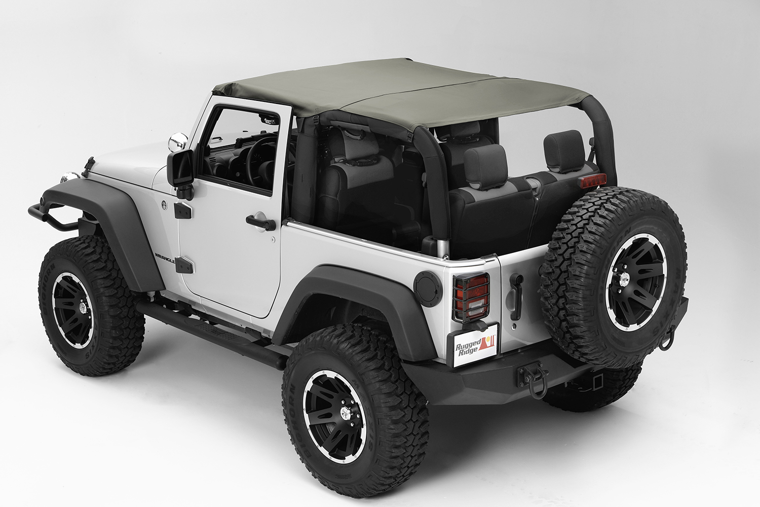 Rugged Ridge Pocket Island Topper Khaki Diamond  - JK 2dr 2010+