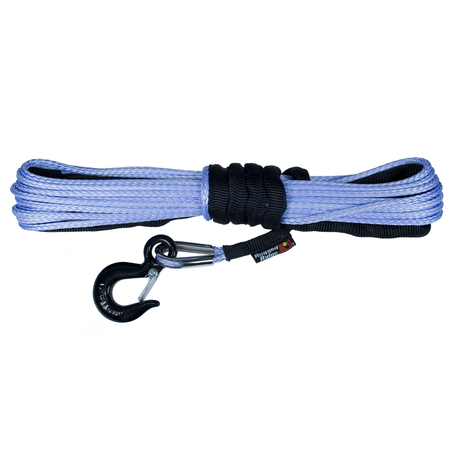 Rugged Ridge 1/4-Inch Synthetic Winch Line, Blue