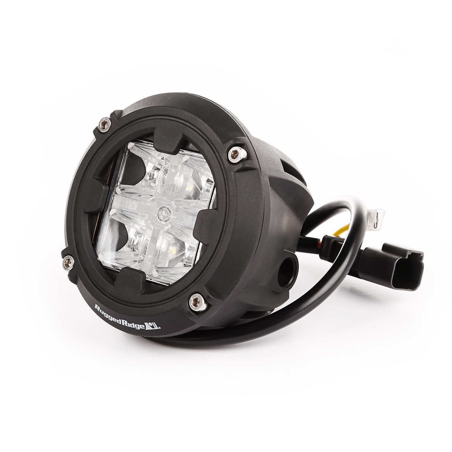 Rugged Ridge Round LED Light 3.5 inches, Combo High/Low Beam