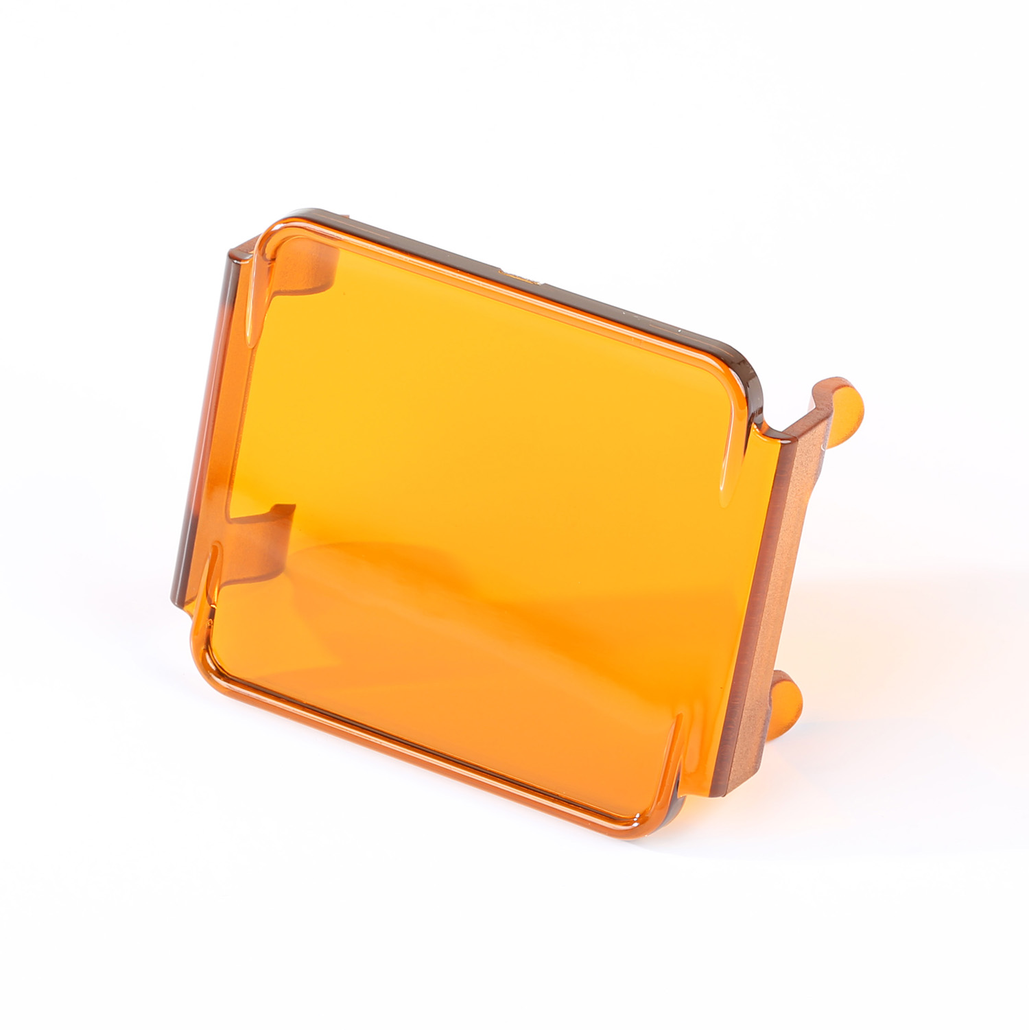 Rugged Ridge 3 Inch Square LED Light Cover, Amber